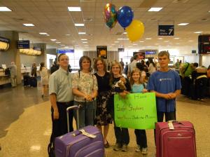 By the way, my family rocked at welcoming me home.